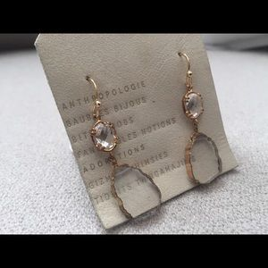 Anthropologie Sea Glass Post Earrings